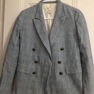 Used jcrew cotton/linen blazer size 0